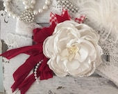 Flag day flower headband Cozette Couture