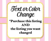 Change Basic Text or Color of Any One Item, Change Text or Color Add-On Fee