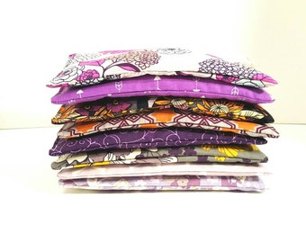 Set of 12 for  72 - SAMPLE Fabrics - Lavender Aroma Therapy Eye Pillows - Aromatherapy Yoga Masks