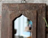 Mirror Reclaimed Vintage Indian Door Panel Wall Hanging Art Moroccan Mirror Mediterranean Decor Turkish Interior