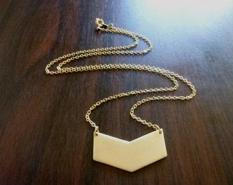 40% OFF SALE! Chevron Geometric Necklace