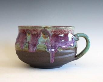 Soup Bowl, 30oz, Cappuccino Mug, Pottery Coffee Mug, handmade ceramic, handthrown ceramic stoneware pottery mug, unique coffee mug