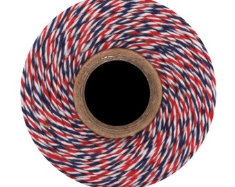 Air Mail- Divine Twine (240 yds) Red,White & Blue