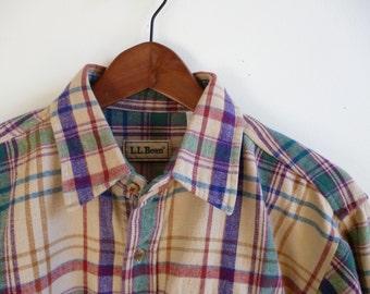 Vintage L.L. Bean Plaid Flannel Men's Medium