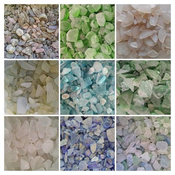Hand Tumbled Manmade Seaglass- Crafting, Creating, Decorating, Arts, Crafts- Smokey Amethyst, Green, Champagne, Citron, Aqua, Blue, Pastel