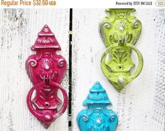 Cast Iron Door Knocker~ French Country Door Knocker~Decorative Iron Door Knocker~Bold Color~Old World~Antique Home