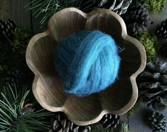 Wool roving supply for needle felting, Teal Heather, 1/2 ounce or 1 ounce, teal wool roving, teal roving, felting supply, teal felting wool