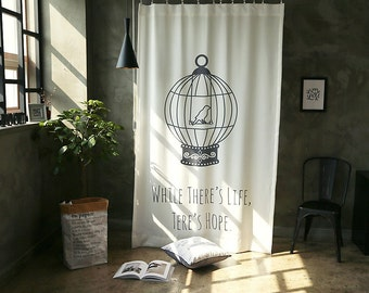 Birdcage  Black Out Wide Fabric Panel  for Curtains (59 inches x 98 inches) 76426