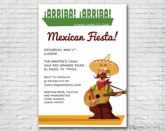 Mexican Fiesta Invitation - Printable or Printed (w/ FREE Envelopes)