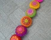 Small colorful felt garland (stuffed)