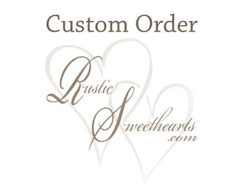 Custom order for Shalonn, 1 large Bouquet, 5 Small Bouquets, 1 x-small bouquet, 8 boutonnieres, 2 wrist corsages, cake topper flowers.
