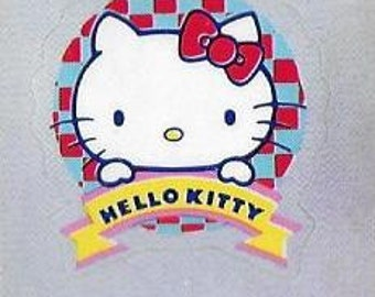 Vintage Unused 1980's Sanrio Hello Kitty Stickers - Set Of Three