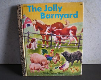 Vintage 1970's A Little Golden Book - The Jolly Barnyard