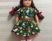 Christmas Dress for Mini AG Doll
