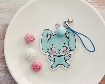 Blue bunny - charm