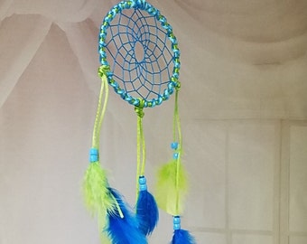 Lime and Turquoise Dream Catcher