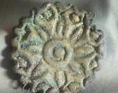 Raku Disc  Connector by Lisa Peters destash