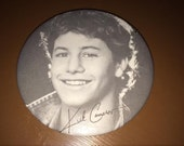 "Kirk Cameron 3"" Button Pin Fan Club Mike Seaver Growing Pains Black & White 1980s"