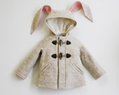 Girl's Bunny Coat: Snowshoe Rabbit