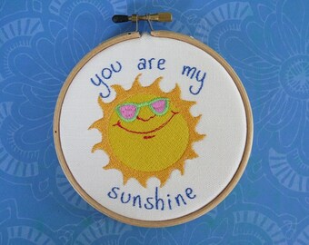 You Are My Sunshine Hoop Art