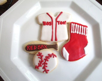 Red Sox Cookies--Take Me Out to the Ball Game