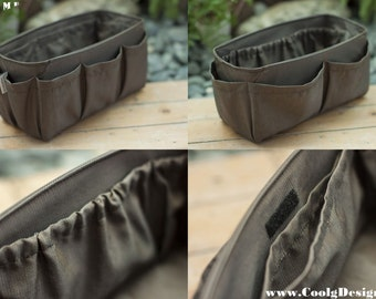 Purse organizer extra sturdy solid brown extra large 30x12cm