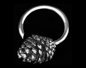 Pine Cone Weights Silver - Hanging Weights - Stretched Lobes