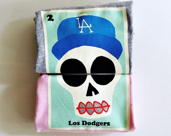 "Toddlers ""Los Dodgers"" Sugar Skull Tee"