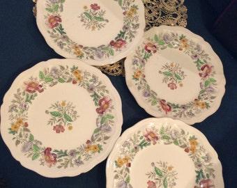 "D6196 royal doulton 4 plates set 6"" Stratford England/1 chip"