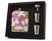 Hawaii Design Flask Gift Set for Women