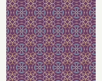 ON SALE - Mosaic in Purple BA-309 - Bazaar Style - Patricia Bravo for Art Gallery Fabrics - By the Yard