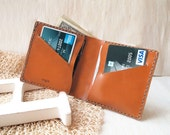 Personalized Leather Bifold Wallet, card wallet best gift for him, Hand Stitched by Harlex