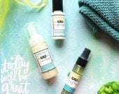 Natural Skincare Set for Oily or Combination Skin - Cleanser, Toner and Moisturizer in Gift Bag