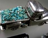 Chrysocolle Ray Mine incrustation #5, écrasée bleu Chrysocolla marqueterie, marqueterie de bois, des bijoux et incrustation de marqueterie de puce, cadeau, à la main écrasé par 49erMinerals