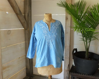 Indigo dyed Cotton Shirt