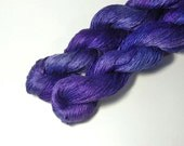Pure Silk LACE  in Nightshade  - One of a Kind