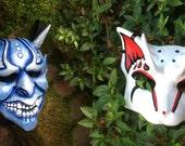 Ice Oni and Demon Neko - custom set of 2
