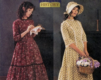 Butterick History 3992 Sewing Pattern for Misses' Pioneer Prairie Costume - Uncut - Size 18, 20, 22 - Bust 40, 42, 44