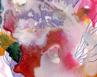 Vim II / Giclee print / organic / contemporary art / abstract painting