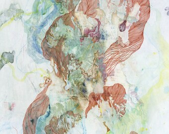 Albicant VIII / Giclee print / organic / contemporary art / abstract painting