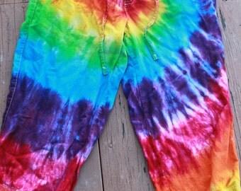 Tie dye Capri pants upcycled