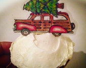 Christmas Woody Tree Cupcake Toppers