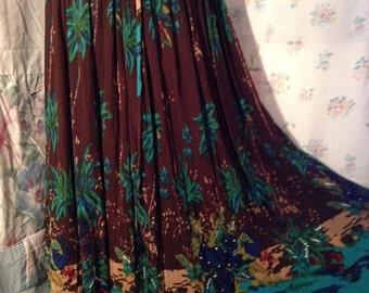 LARGE, XL,  Bohemian Flowerchild Hippie Skirt