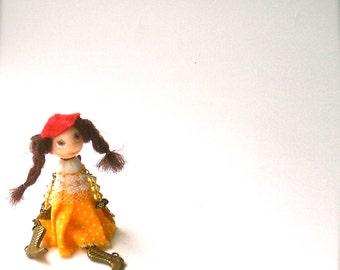 Doll-brooch Dancing - Handmade - Brooch girl- funny doll brooch