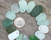 Genuine Sea Beach Glass, Top Drilled, Add a Sea Glass, Sea Glass Pendant, Real, Genuine, Jewelry supplies, Sold Individually