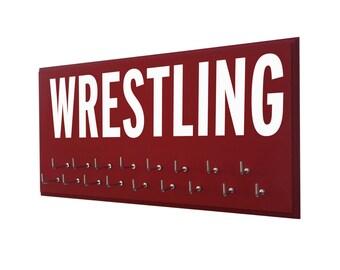 Wrestling medals holder, medal hangers, Wrestling gift, gift for wrestler, wresting medal display