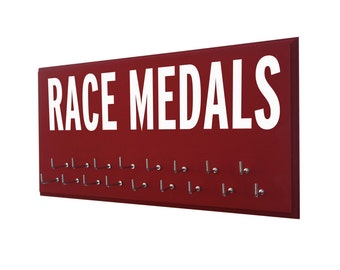 Race Medal Display rack : Be proud, GIFTS FOR RUNNERS, display your medal from all your races