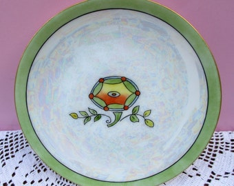 "Vintage 6-inch ART DECO PLATE by Thomas ""Sevres"" Bavaria. Artist Signed. Xlnt Condition"