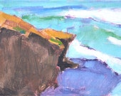 Cliffs in Ocean Beach, San Diego Landscape Painting