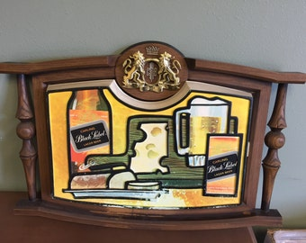 1970s Carling's Black Label Beer bar sign